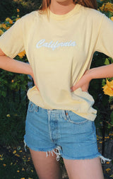 NYCT Clothing California T-shirt - Light Yellow