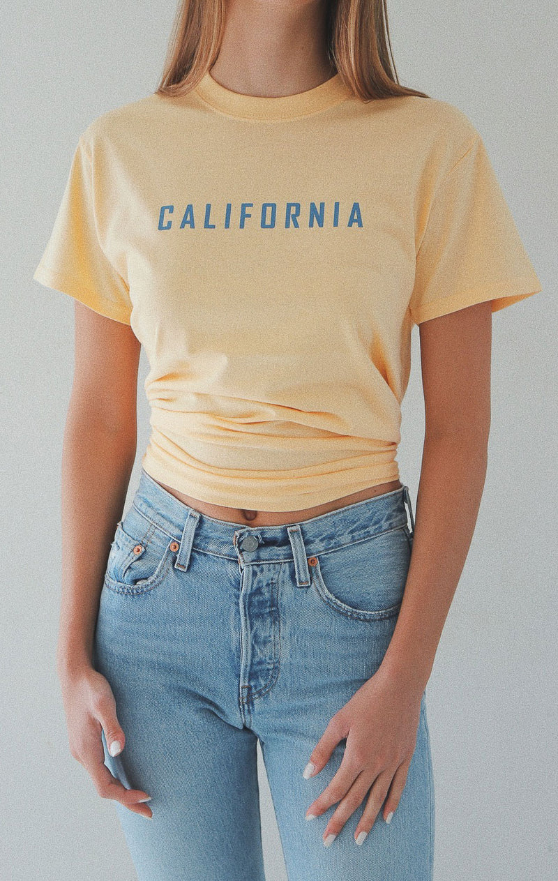 NYCT Clothing California T-shirt - Yellow
