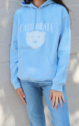 NYCT Clothing California Bear Hoodie - Light Blue