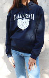 NYCT Clothing California Bear Hoodie - Navy