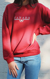 NYCT Clothing Canada Sweatshirt - Dark Red