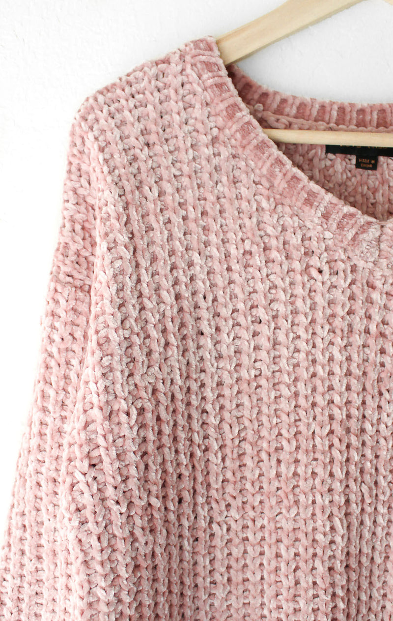 NYCT Clothing Dusty Pink Knit Sweater
