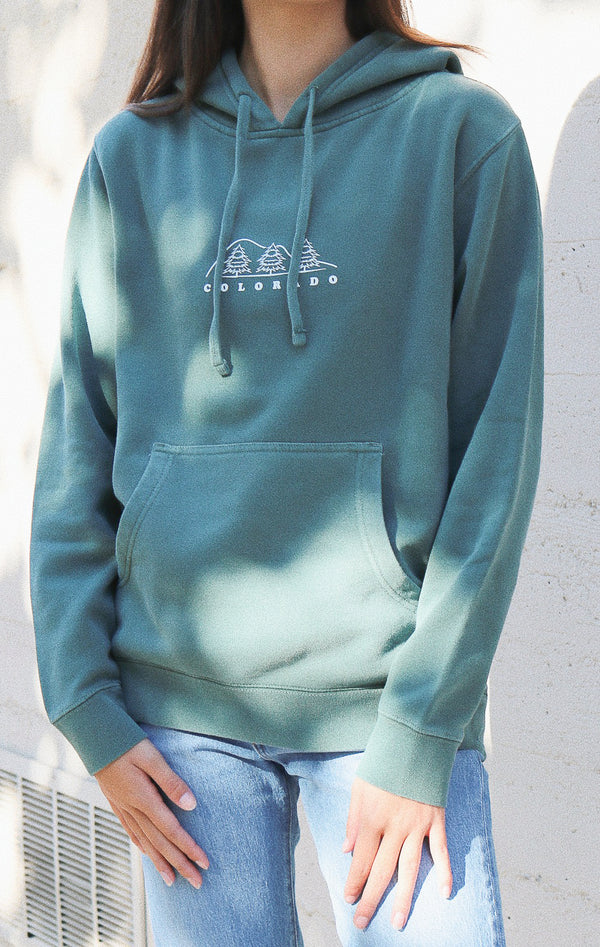 NYCT Clothing Colorado Hoodie - Vintage Green