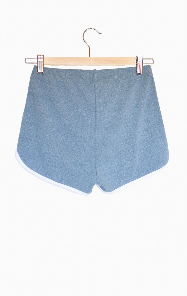 NYCT Clothing Contrast Trim Shorts - Vintage Blue