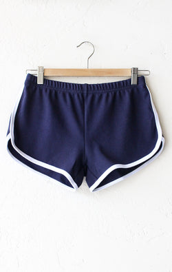 NYCT Clothing Contrast Trim Shorts - Navy