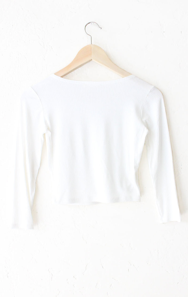 Wrap Front Crop Top - Ivory