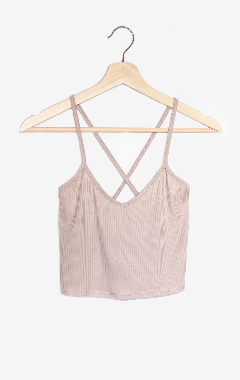 NYCT Clothing Cross Back Crop Top