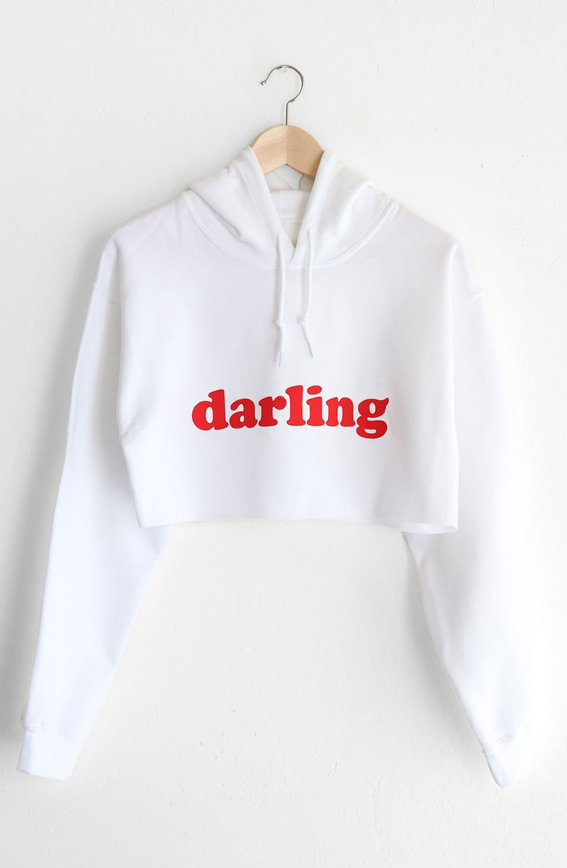 NYCT Clothing Darling Oversized Cropped Hoodie - White