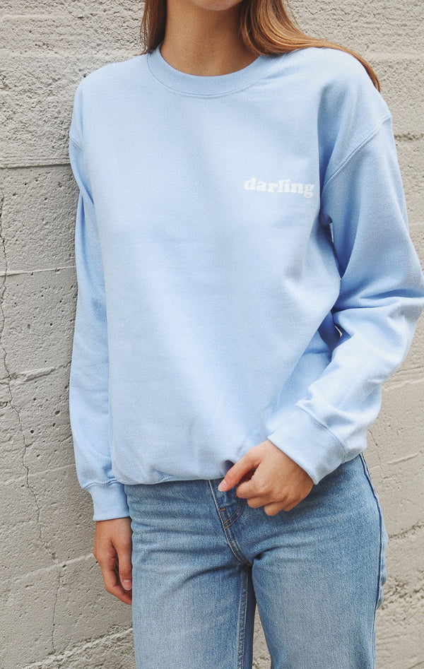 NYCT Clothing Darling Sweatshirt - Light Blue