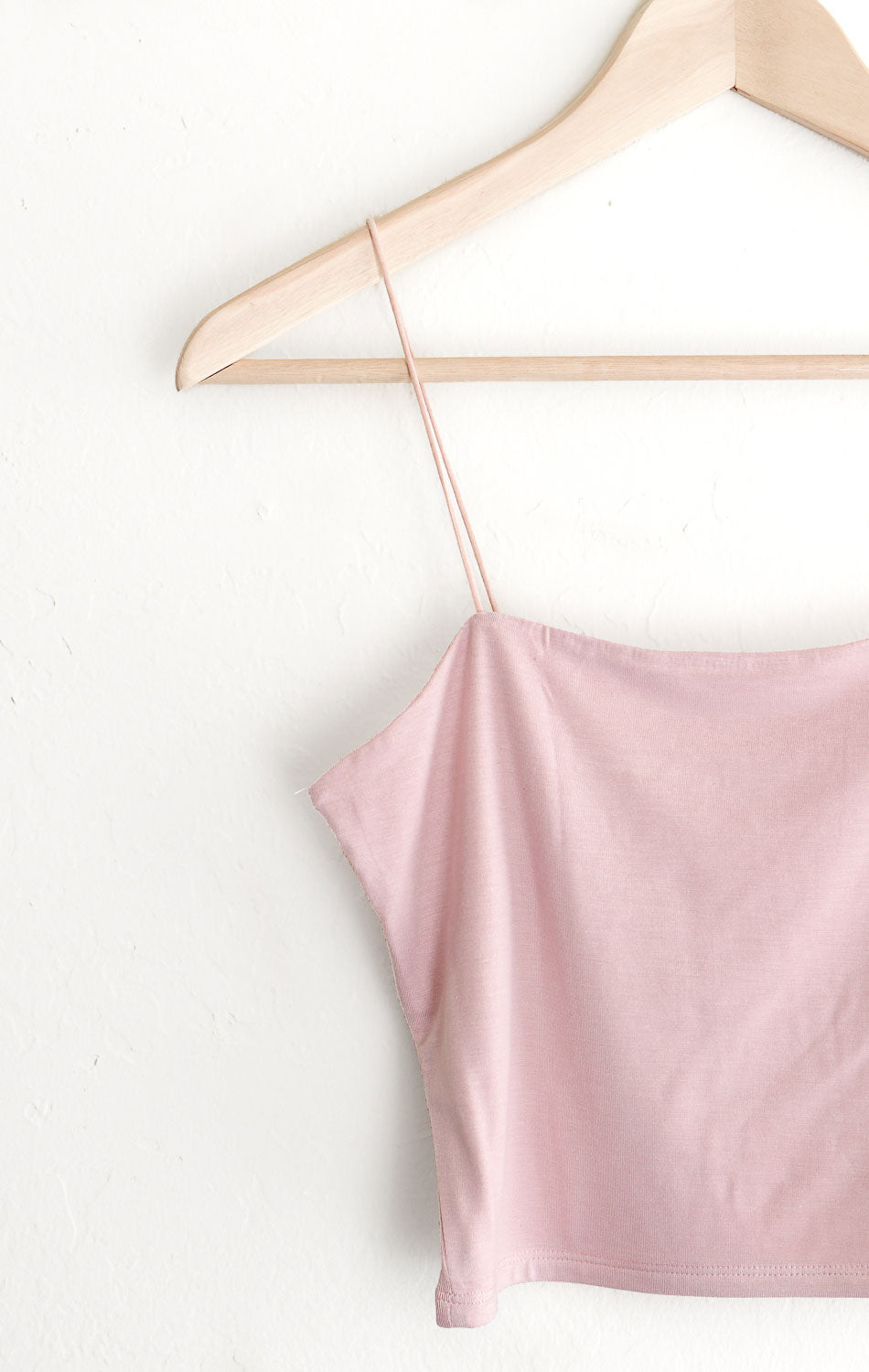 NYCT Clothing Cropped Cami - Dusty Pink