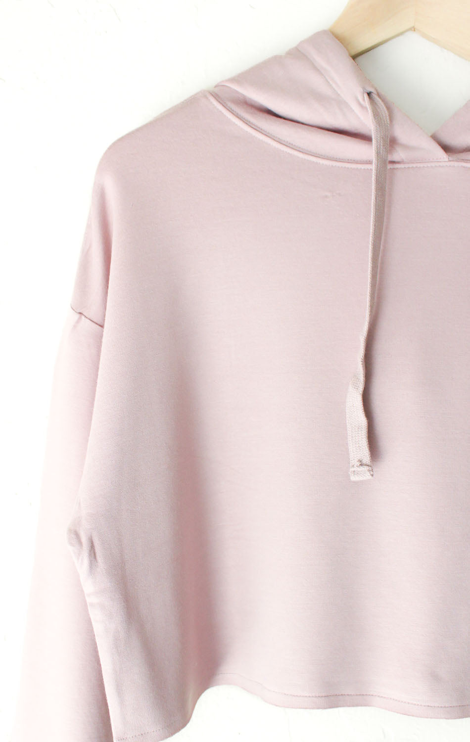 NYCT Clothing Dusty Pink Cropped Hoodie