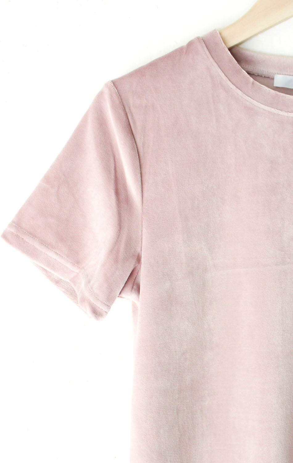 NYCT Clothing Dusty Pink Velvet Tee