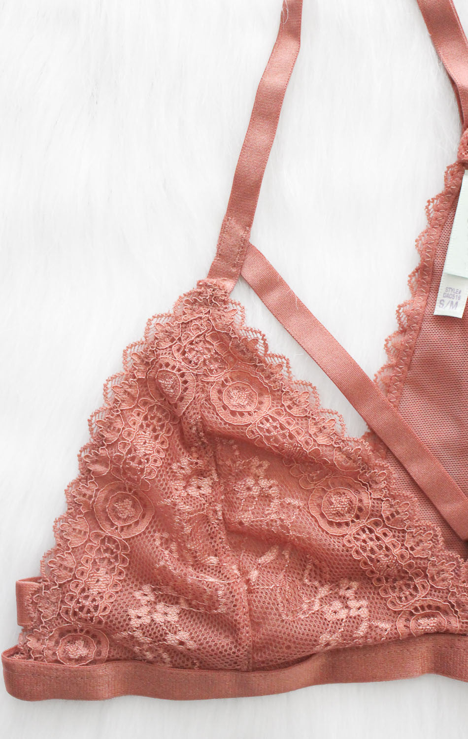 NYCT Clothing Strappy Lace Bralette