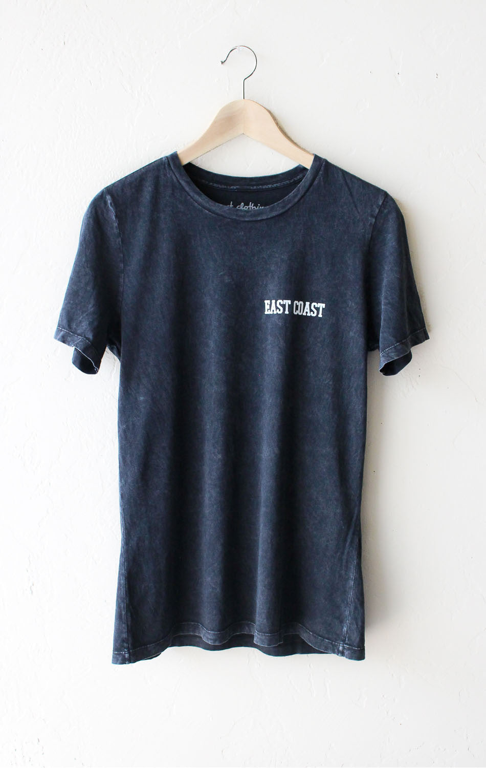 East Coast Relaxed Tee - Acid Wash Black