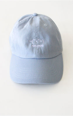 ~(˘▾˘~) Feelings Cap - Light Blue