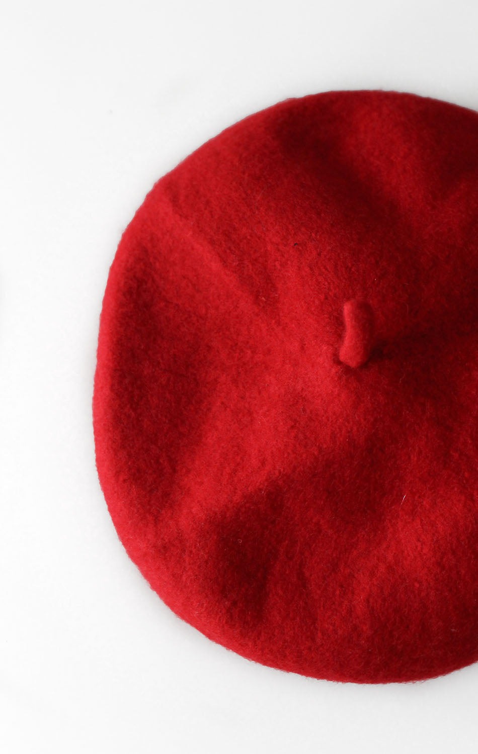 NYCT Clothing Felt Beret - Red