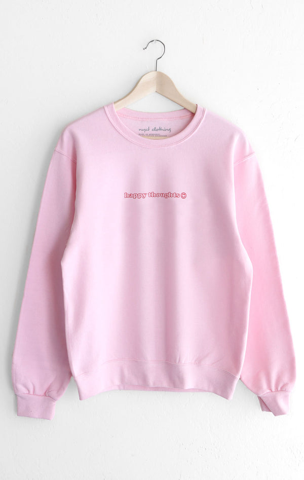 NYCT Clothing Happy Thoughts Oversized Sweatshirt