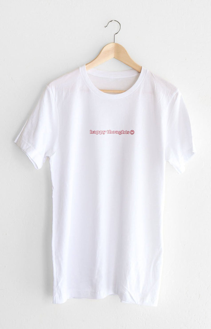 NYCT Clothing Happy Thoughts Tee - White