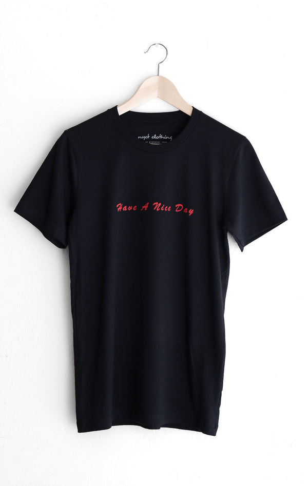 NYCT Clothing Have A Nice Day Tee - Black
