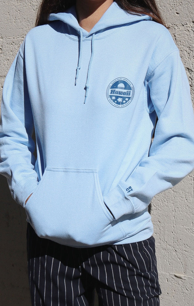NYCT Clothing Hawaii Islands Hoodie - Light Blue