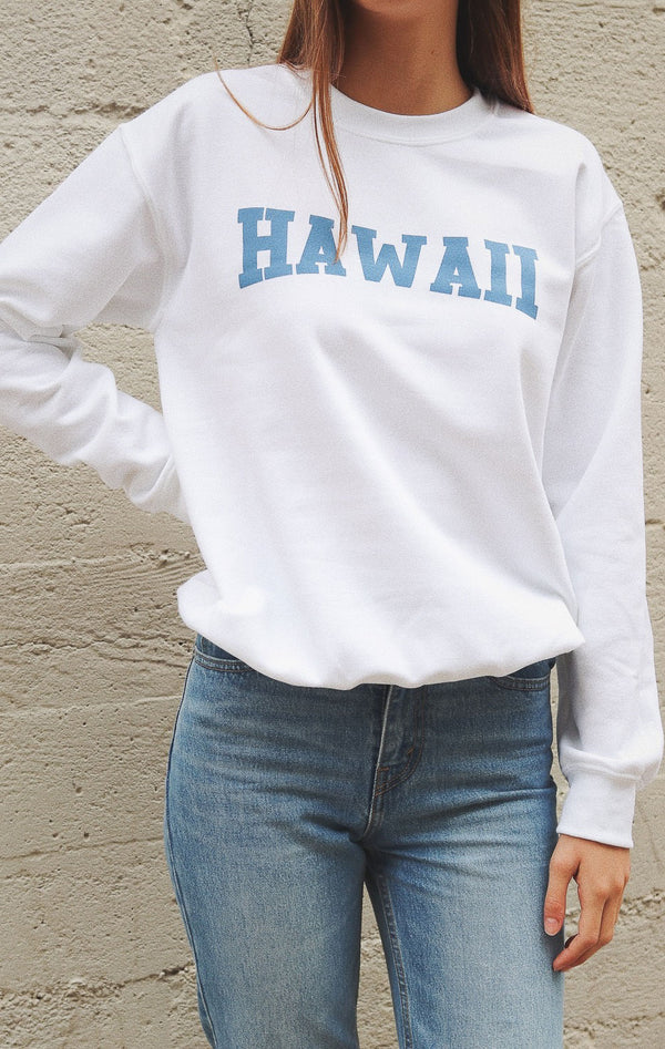 NYCT Clothing Hawaii Sweatshirt - White