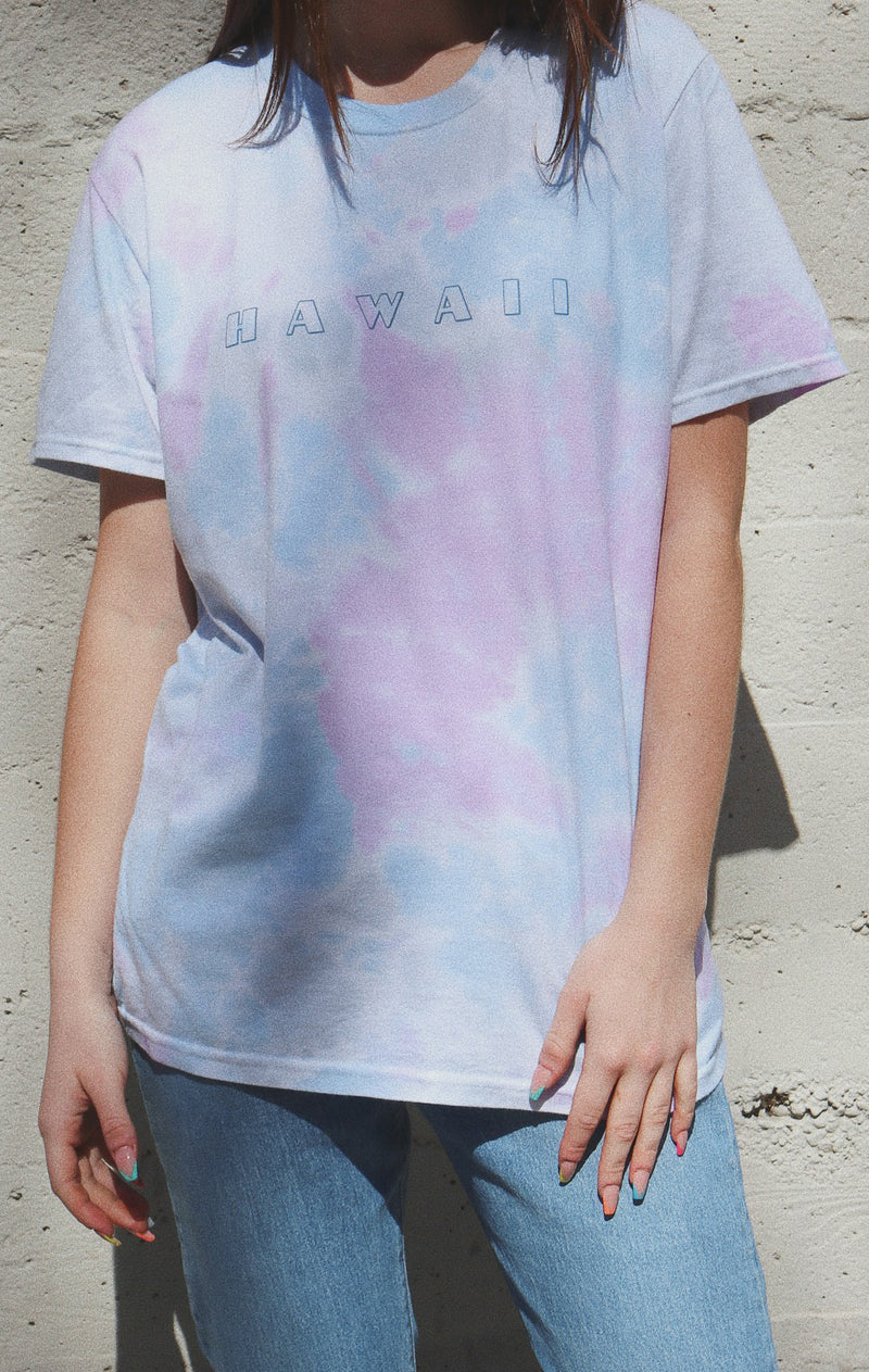 NYCT Clothing Hawaii Tie Dyed T-shirt - Purple