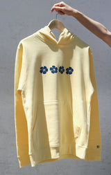 NYCT Clothing Hawaiian Hibiscus Hoodie - Yellow