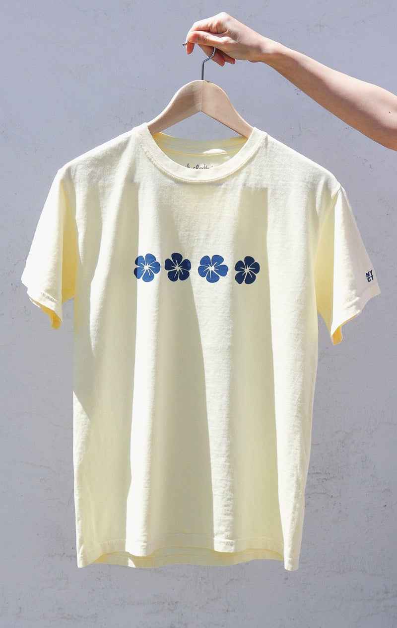 NYCT Clothing Hawaiian Hibiscus T-shirt - Light Yellow