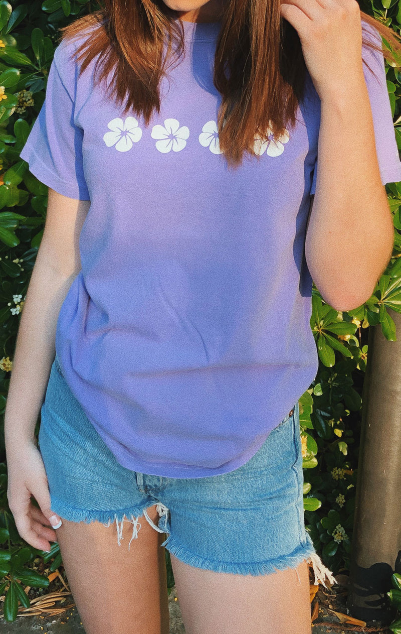 NYCT Clothing Hawaiian Hibiscus T-shirt - Violet