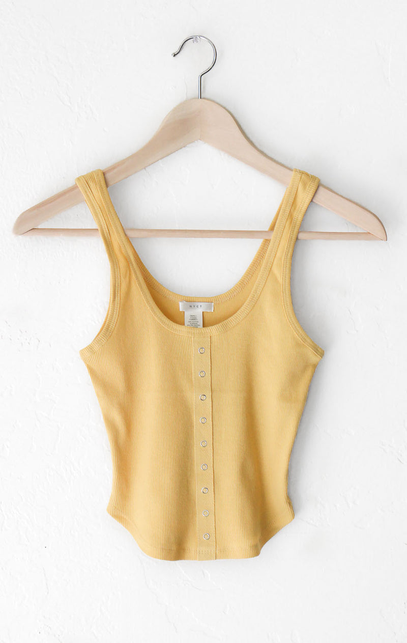 NYCT Clothing Henley Crop Top