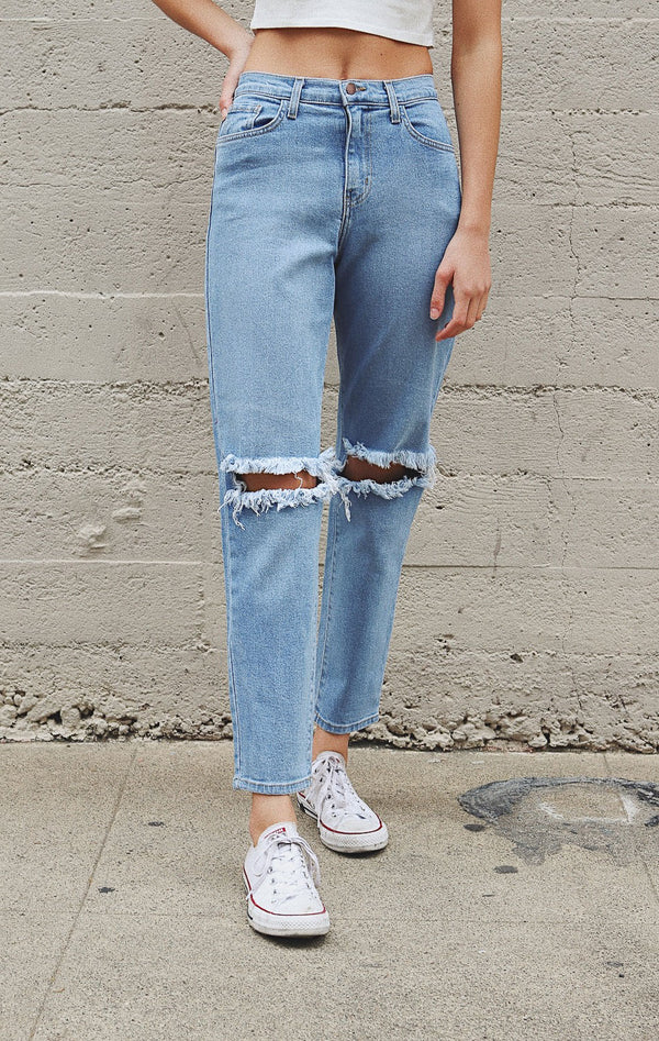 NYCT Clothing High Rise Boyfriend Jeans - Medium Wash