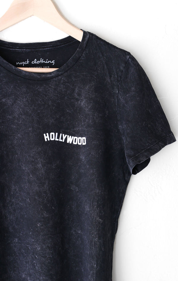 NYCT Clothing Hollywood Relaxed Tee - Acid Wash Black