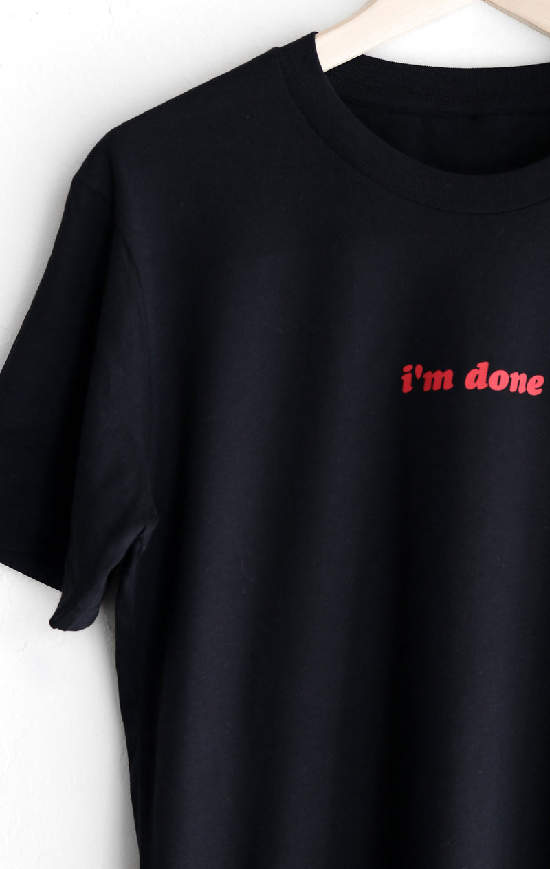 NYCT Clothing I'm Done Tee - Black