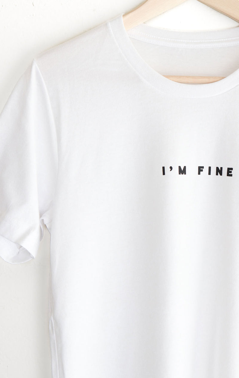 NYCT Clothing I'm Fine Tee - White