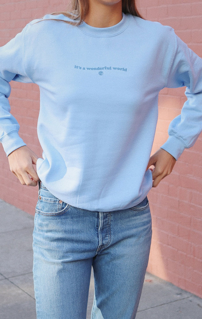 NYCT Clothing It's A Wonderful World Sweatshirt