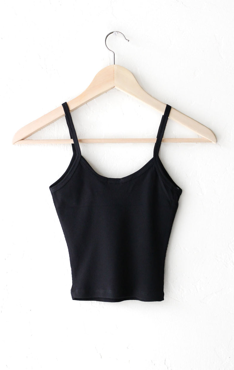 NYCT Clothing Knit V-neck Cami Crop Top