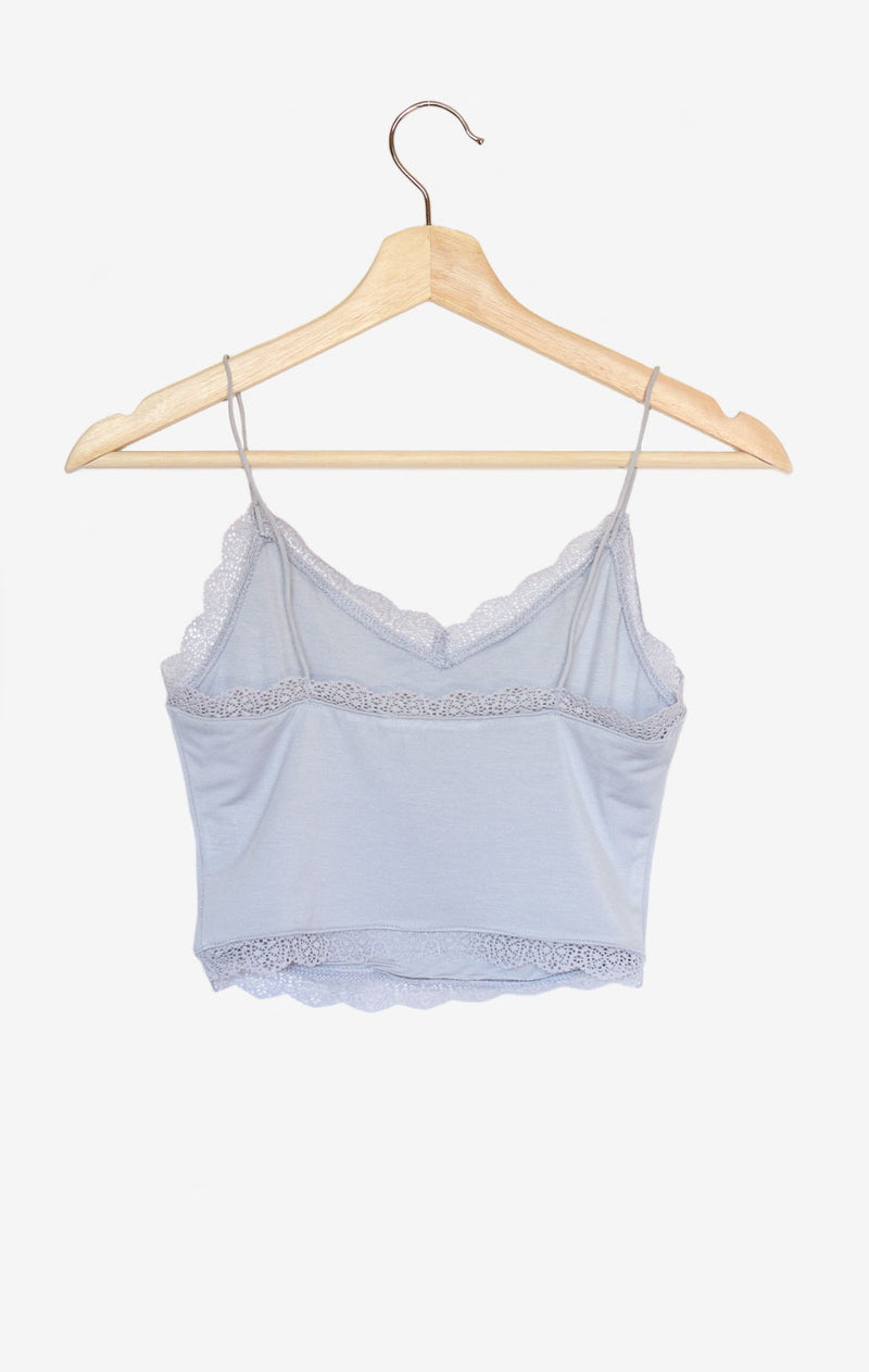 NYCT Clothing Lace Trim V-neck Cami