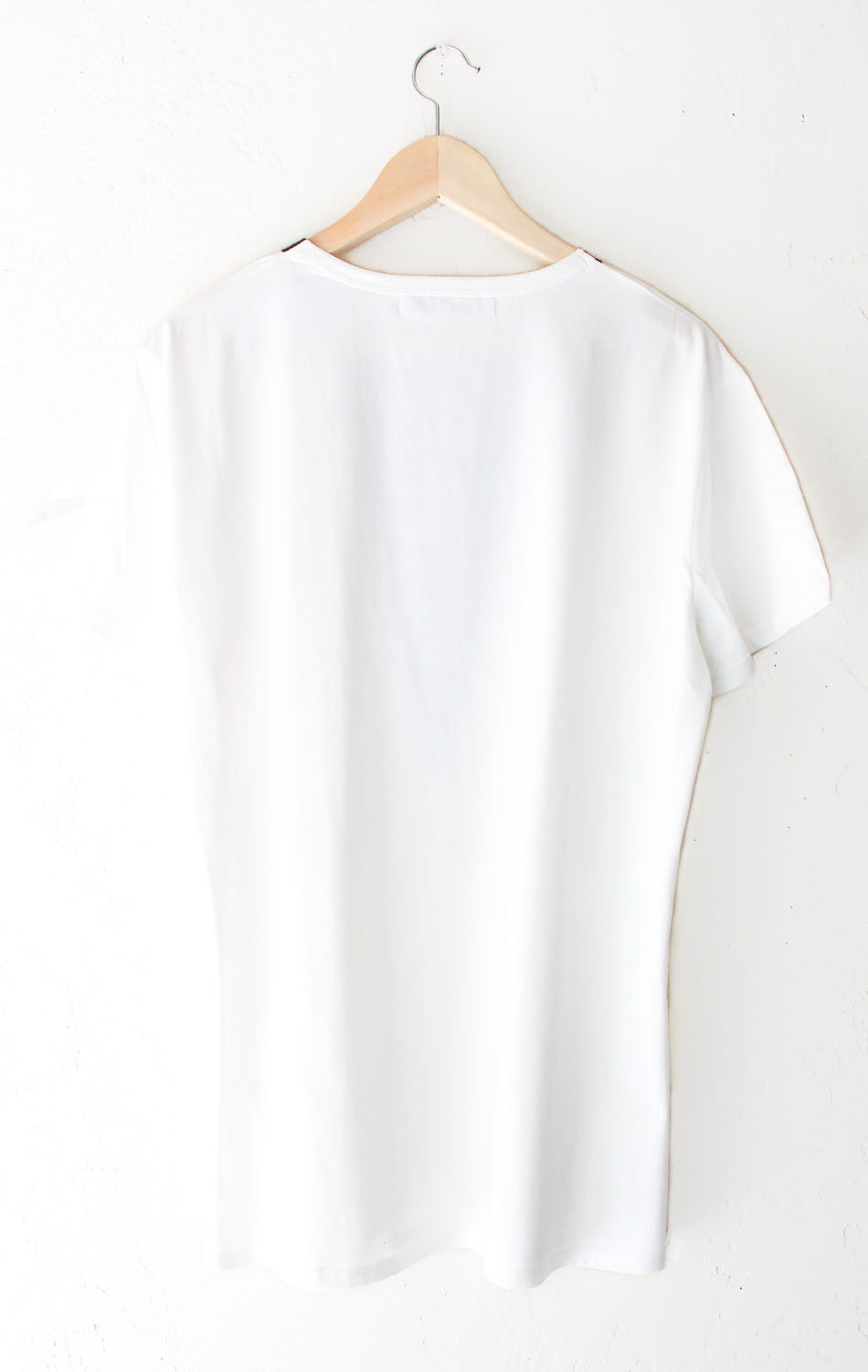 NYCT Clothing Deep V-neck Tshirt Dress - White