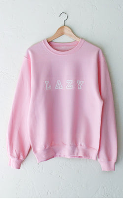0baa7a385 Lazy Oversized Sweatshirt - Pink – NYCT CLOTHING