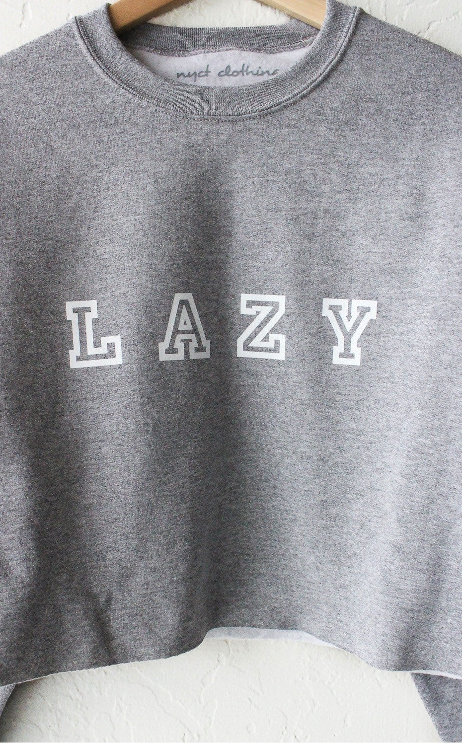 NYCT Clothing Lazy Cropped Sweater - Grey