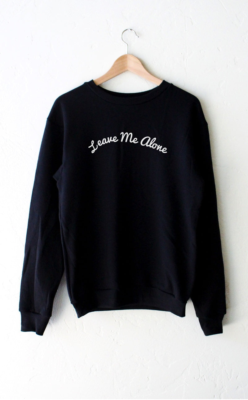 NYCT Clothing Leave Me Alone Sweater - Black