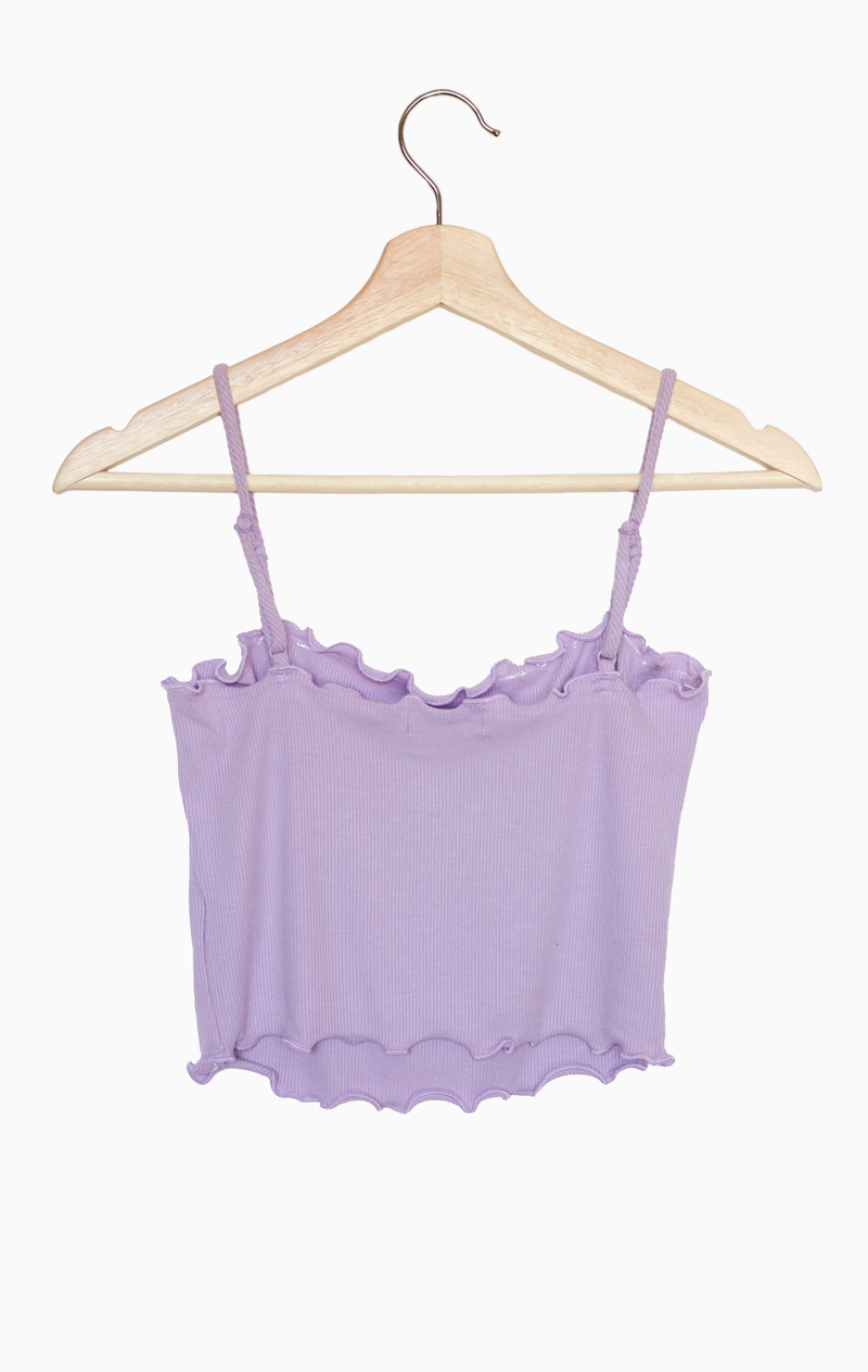 NYCT Clothing Lettuce Edge Cami -Lavender