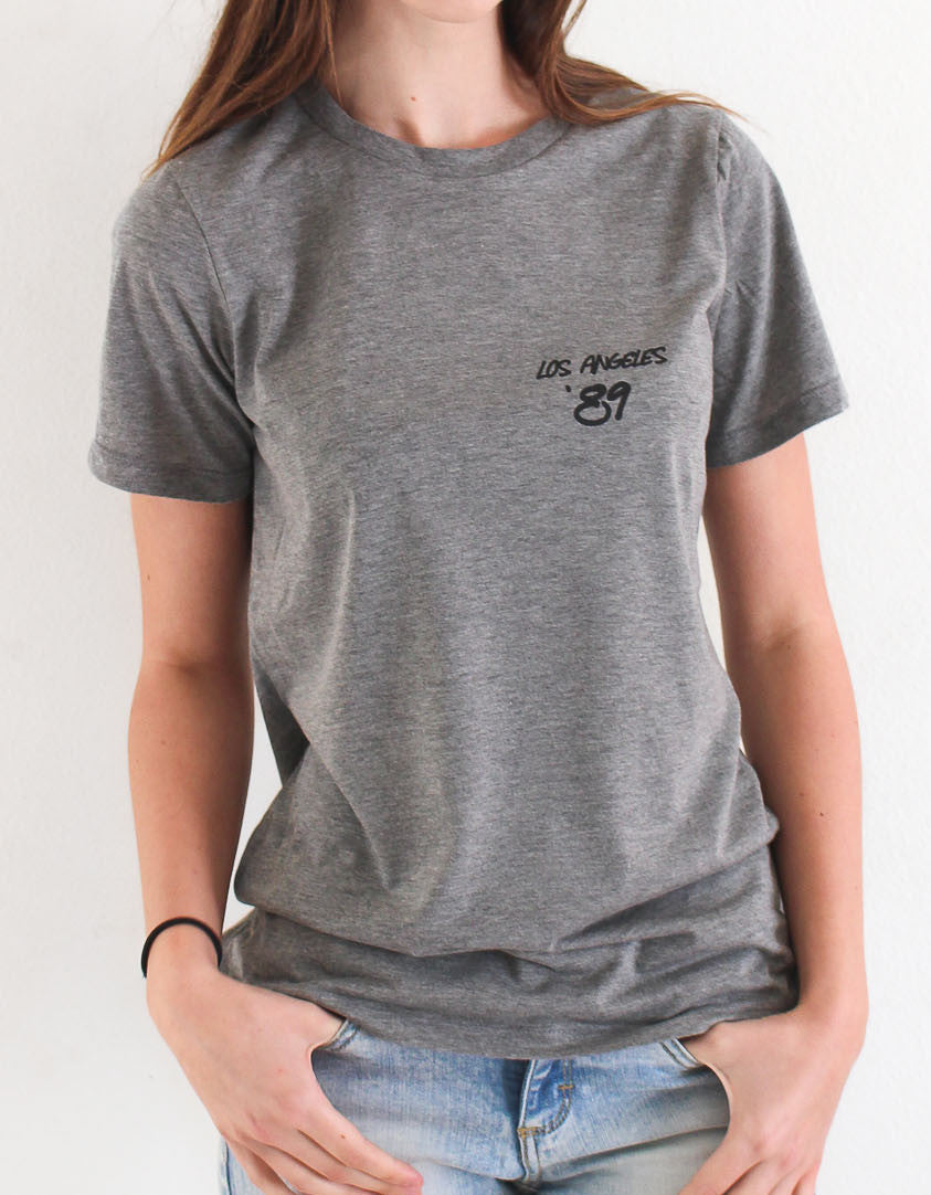 Los Angeles '89 Relaxed Tee - Grey