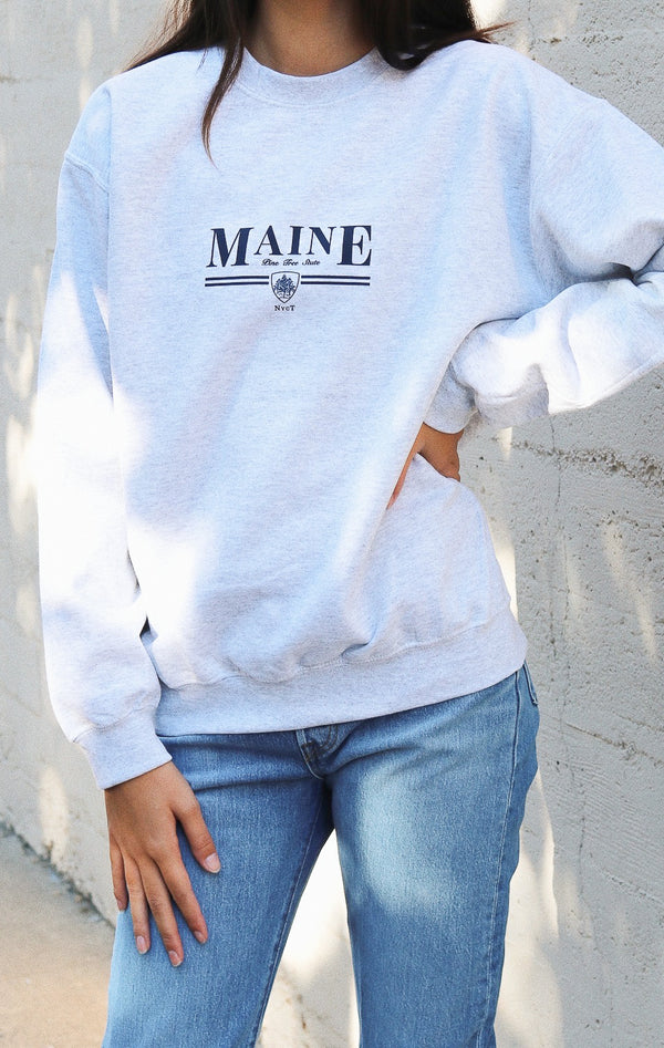 Maine Sweatshirt - Ash Grey