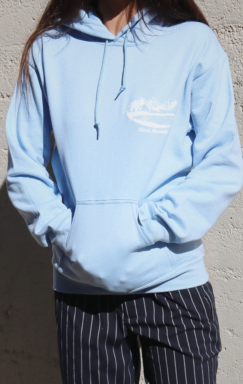 NYCT Clothing Maui Beach Hoodie - Light Blue