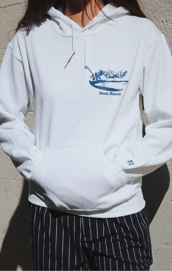NYCT Clothing Maui Beach Hoodie - White