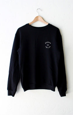 NYCT Clothing Mermaid For Life Sweatshirt - Black