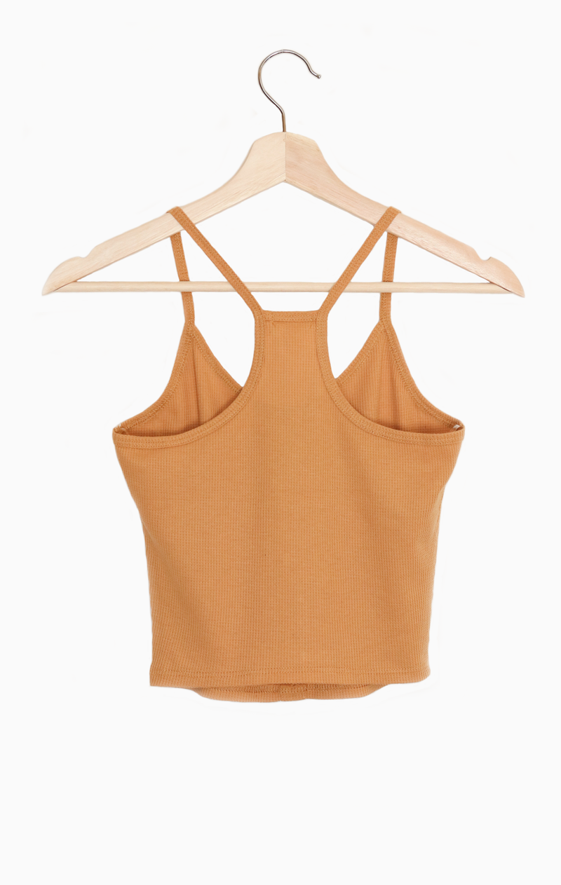 NYCT Clothing Button-Accent Crop Tank Top