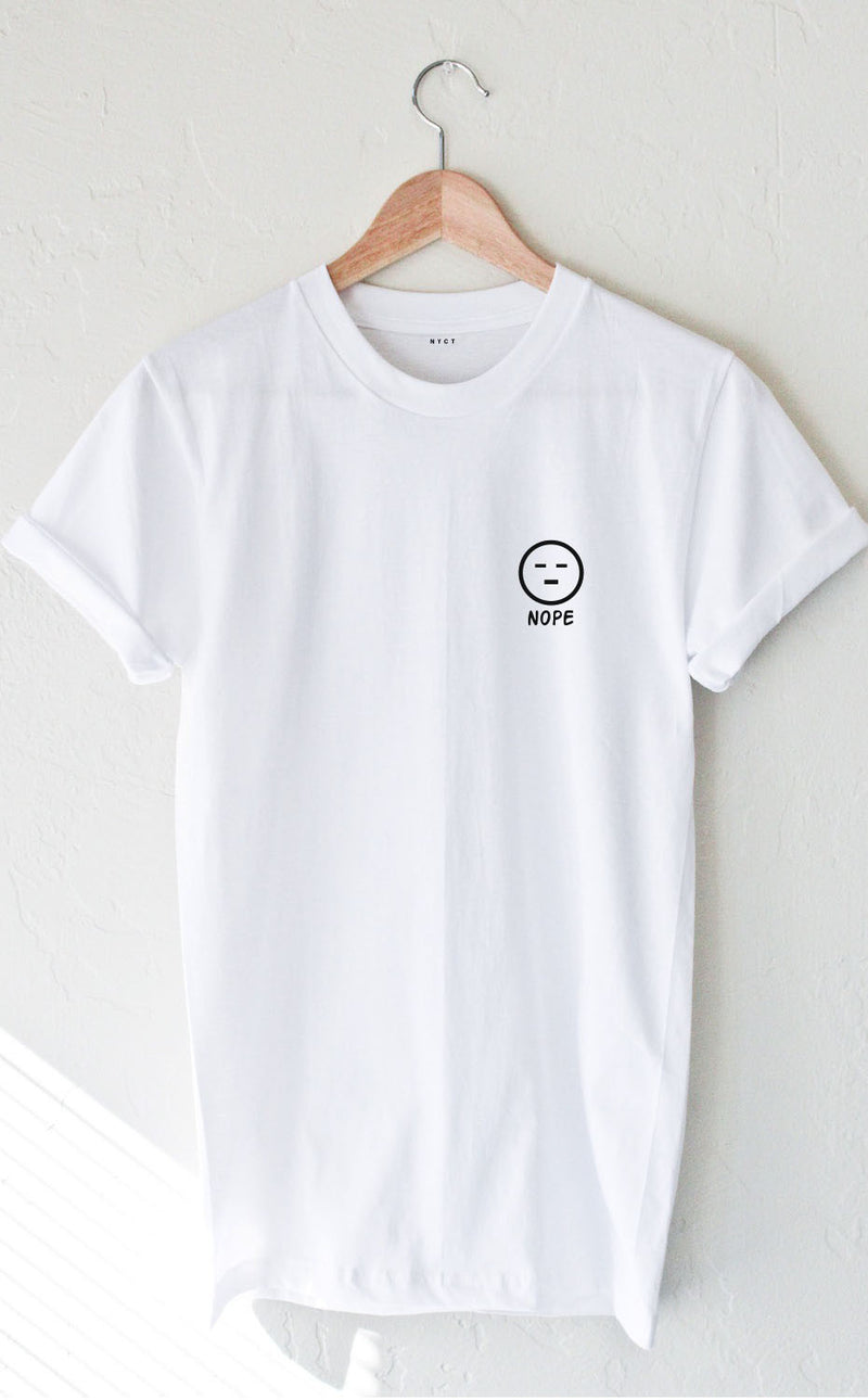 NYCT Clothing Nope Tee - White