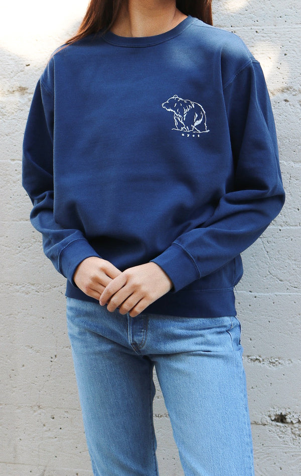 NYCT Clothing Bear Sweatshirt - Navy
